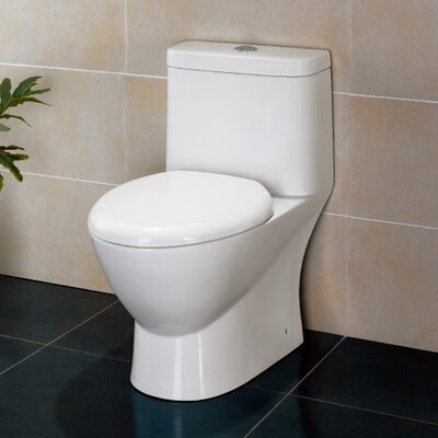 Ariel Bath Platinum Adriana Dual-Flush Elongated One-Piece Toilet ...