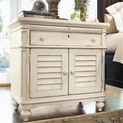 Superior Steel Magnolia 1 Drawer Nightstand