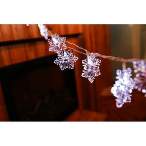 20-Light 160 Inches. Snowflake String Lights
