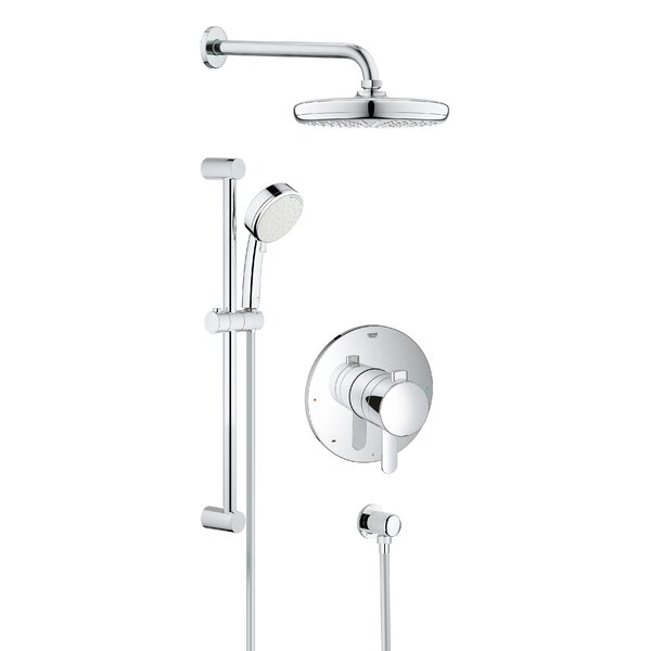 Grohe Cosmopolitan Pressure Balanced Dual Function Adjule Complete Shower System With Sdclean Technology Wayfair