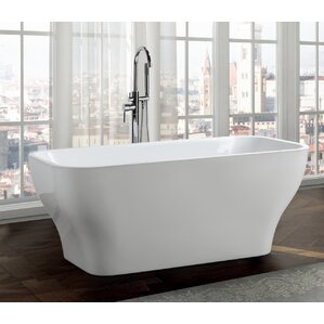Novara 59  x 28  Freestanding Soaking BathtubFreestanding Tubs. Small Freestanding Soaking Tub. Home Design Ideas