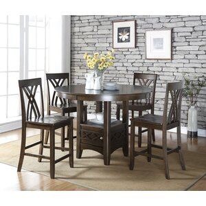 Ashley 5 Piece Counter Height Dining Table Set