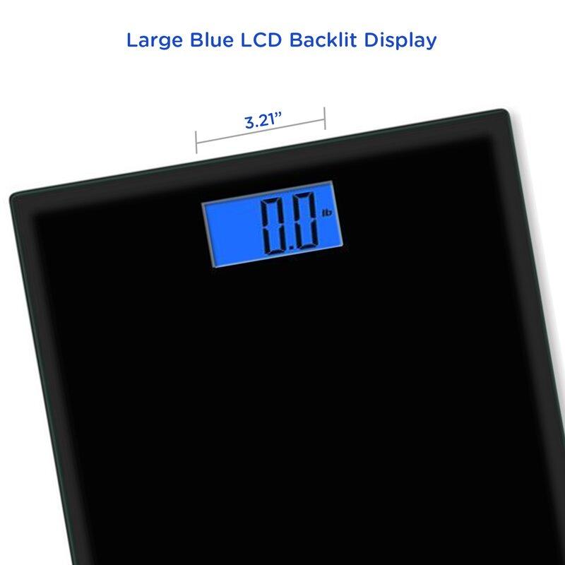 EatSmart Precision Digital Bathroom Scale Reviews Wayfair - Large display digital bathroom scales