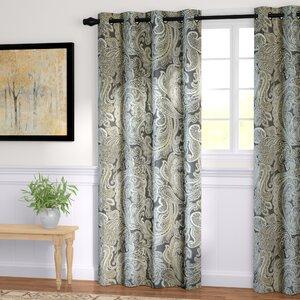 Haffner Paisley Room Darkening Grommet Single Curtain Panel