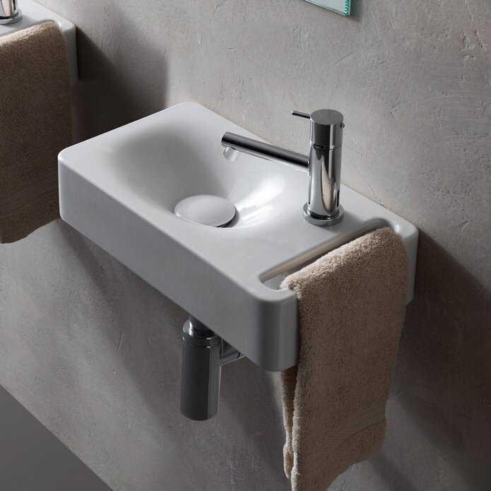 Wall Mount Sink With Towel Bar Wayfair