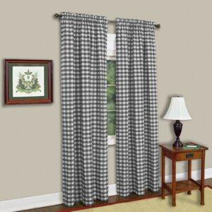 Buffalo Check Single Curtain Panel