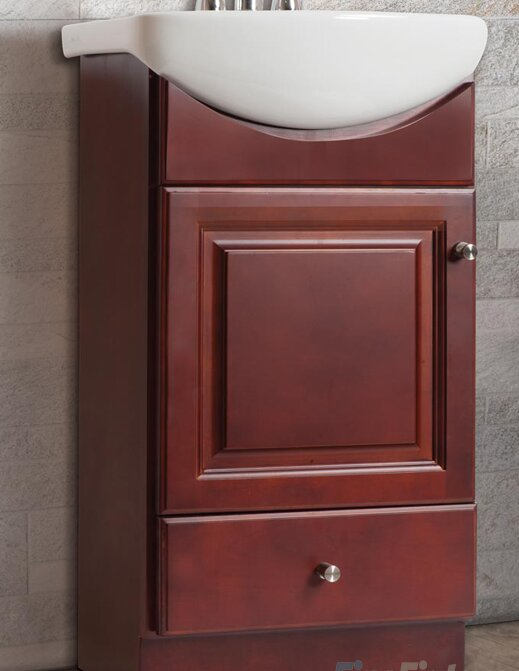 "Petite Bathroom Vanity fine fixtures petite 16"" single bathroom vanity set & reviews"