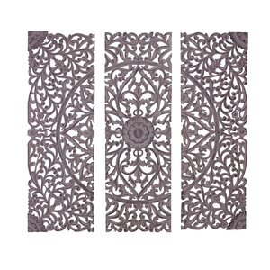 3 Piece Wood Carved Wall Du00e9cor Set