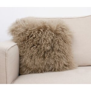 Mongolian Fur Throw Pillow