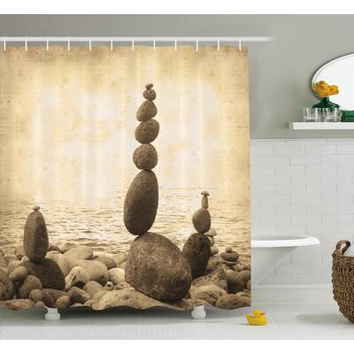 Big And Small Rocks Shower Curtain