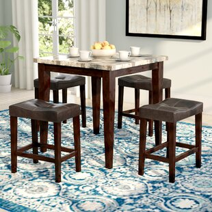 Aldama 5 Piece Pub Table Set