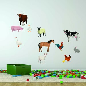 Farm Animal Set Wall Decal