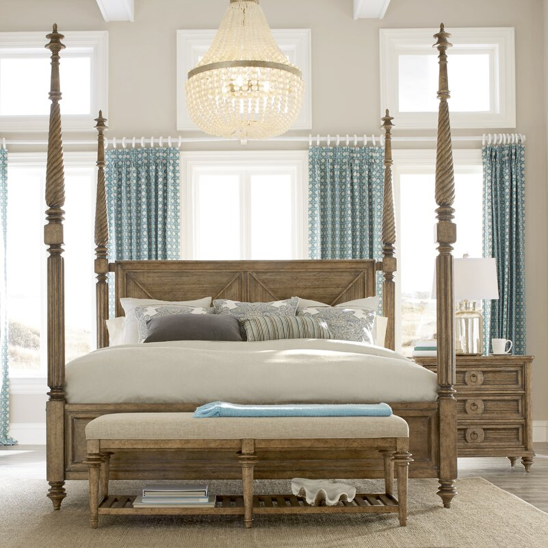 Poster Canopy Bed bay isle home akrotiri four poster bed & reviews | wayfair