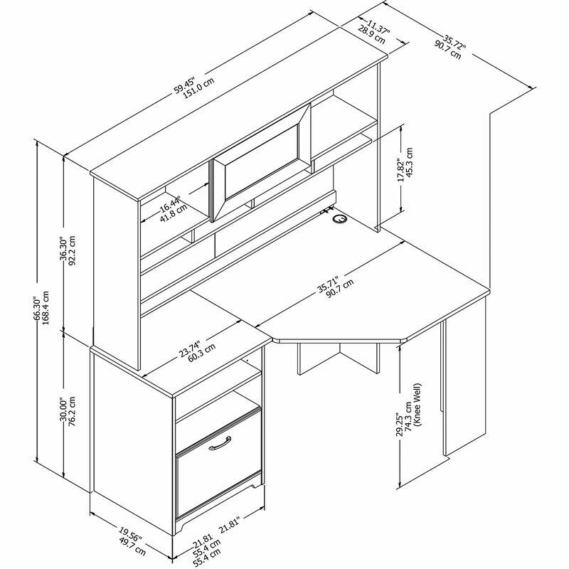 Red Barrel Studio Hillsdale L Shape Computer Desk With Hutch