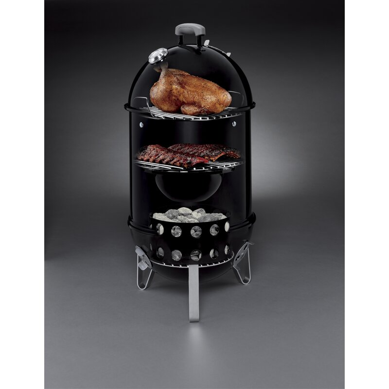 Weber Smokey Mountain Smoker >> Weber Smokey Mountain Cooker 14 Smoker Reviews Wayfair