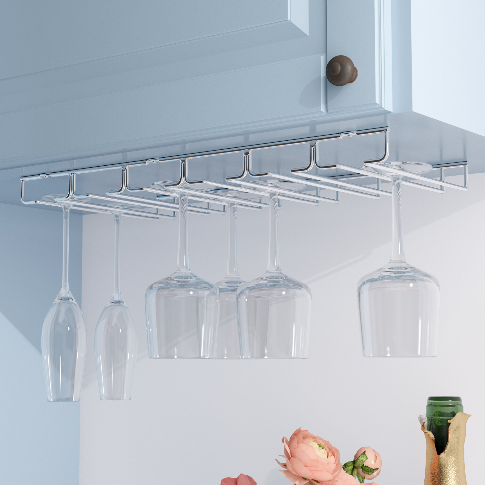 Rebrilliant Hanging Wine Glass Rack & Reviews | Wayfair