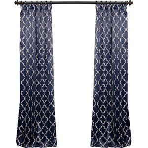 Grouse Geometric Blackout Thermal Rod Pocket Sing Curtain Panel