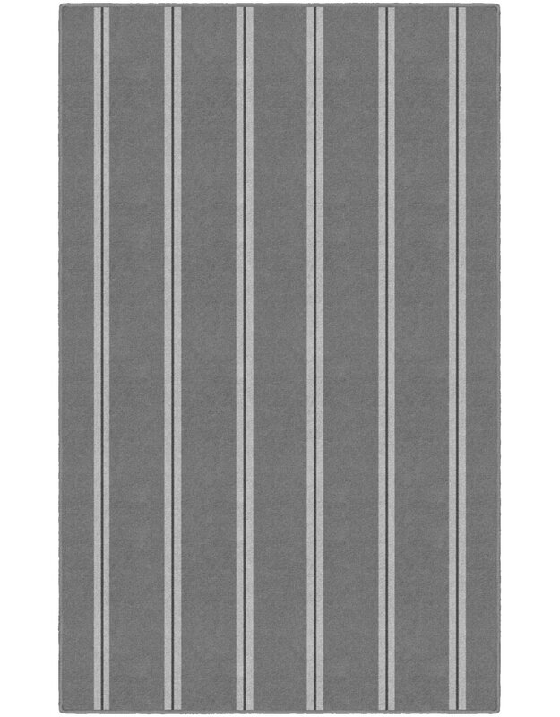 Highland Dunes Jalynn Traditional Vertical Striped Gray Area Rug, Size: Rectangle 76 x 10