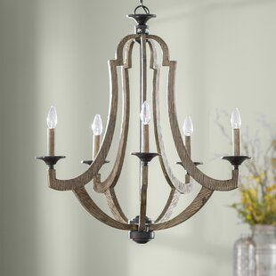 marcoux 5 light candle style chandelier - Candle Chandelier