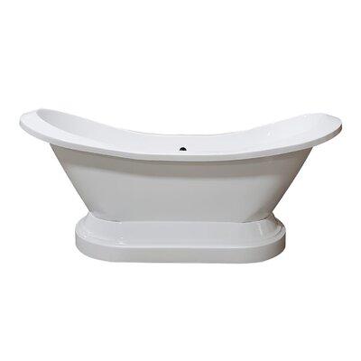"""Acrylic Double Slipper 73"""" X 31"""" Freestanding Soaking Bathtub Cambridge Plumbing"""