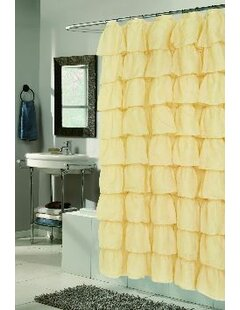 Atia Voile Ruffle Tier Shower Curtain