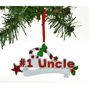personalized christmas ornament 1 uncle hearts candy cane hanging figurine
