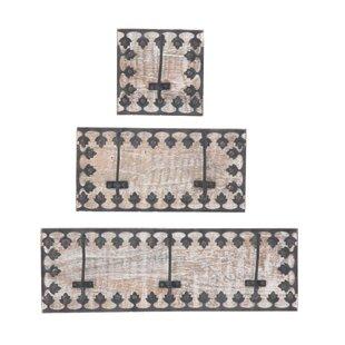 Black ornate frame Decorative Hillrose Ornate Framed Piece Wall Mounted Coat Rack Set Wayfair Black Ornate Frame Wayfair