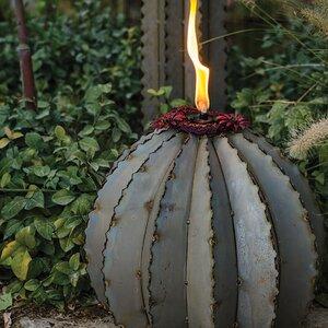 Golden Barrel Garden Torch