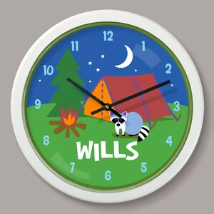 Camping Trip Personalized 12″ Wall Clock