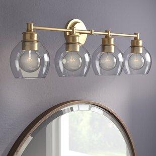 4 bulb vanity light coastal quickview light bathroom vanity lighting youll love wayfair