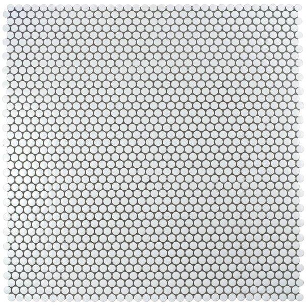 Elitetile Retro 0 75 X Porcelain Mosaic Tile In Glossy White Reviews Wayfair