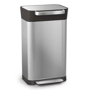Intelligent Waste An Stainless Steel 8 Gallon Step On Trash Can