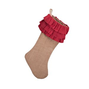 Ruffle Design Jute Stocking