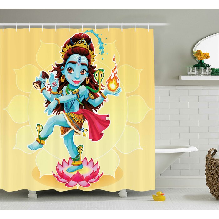 World Menagerie Hivernage Yoga Cute Indian God Dance on Lotus Flower ...