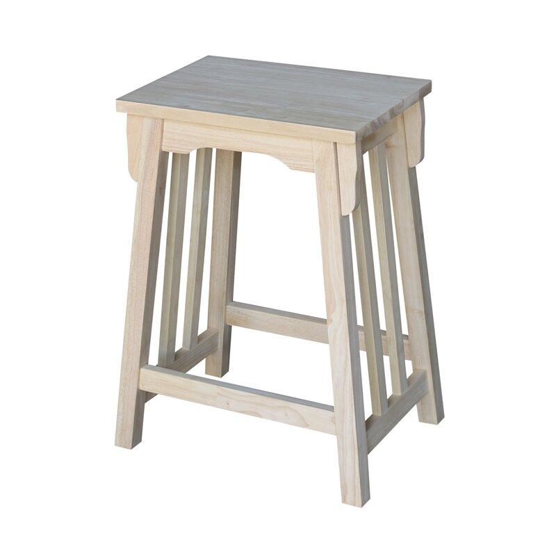 """Unfinished Wood 24"""" Bar Stool"""