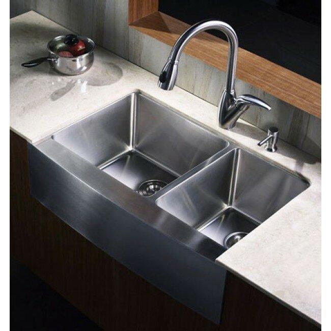 60 40 Kitchen Sink Emodern decor ariel 33 x 21 6040 double bowl farmhouse kitchen ariel 33 x 21 6040 double bowl farmhouse kitchen sink workwithnaturefo