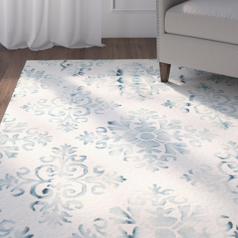 Elegant Carter Hand Tufted Ivory/Light Blue Area Rug