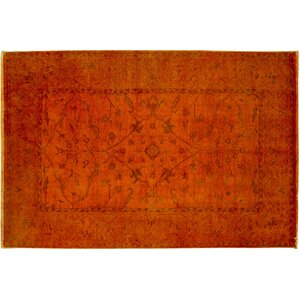 One-of-a-Kind Bellview Hand-Knotted Orange Area Rug