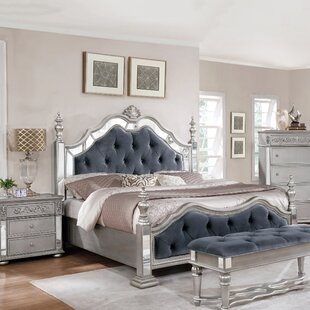 Charming Kenton Panel 4 Piece Bedroom Set