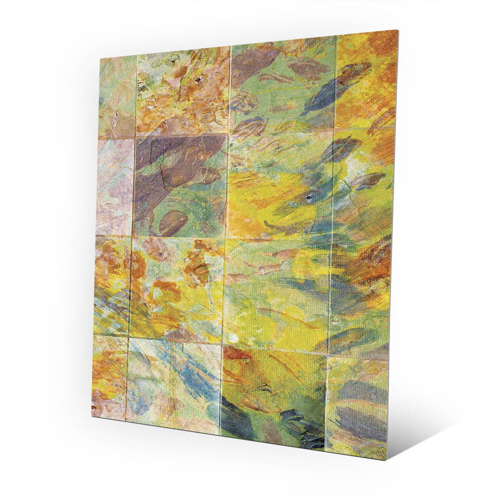 Click Wall Art \'Prismatic Tiles\' Painting Print on Plaque   Wayfair