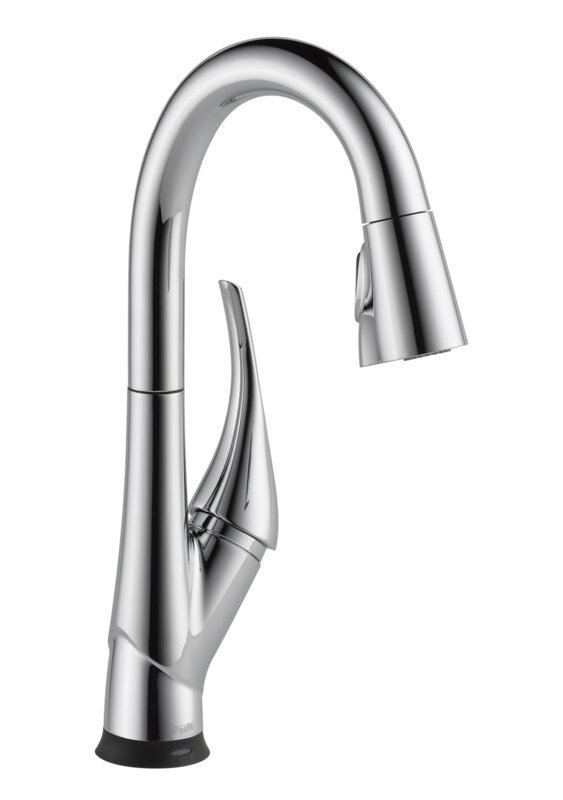 Delta Esque Pull Down Touchless Single Handle Kitchen Faucet with ...