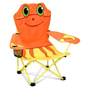Clicker Crab Kids Directors Chair With Cup Holder