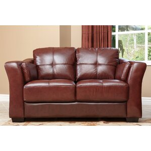 Franklintown Leather Loveseat by Darby Home Co