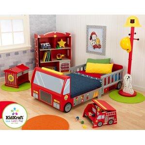 Perfect Firefighter Toddler Car Customizable Bedroom Set