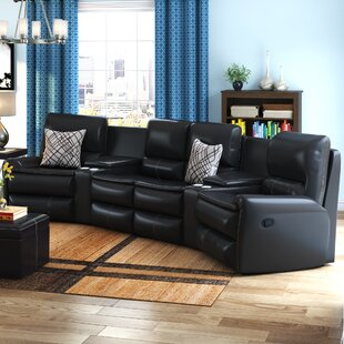 Merveilleux Yonkers Leather Reclining Sectional