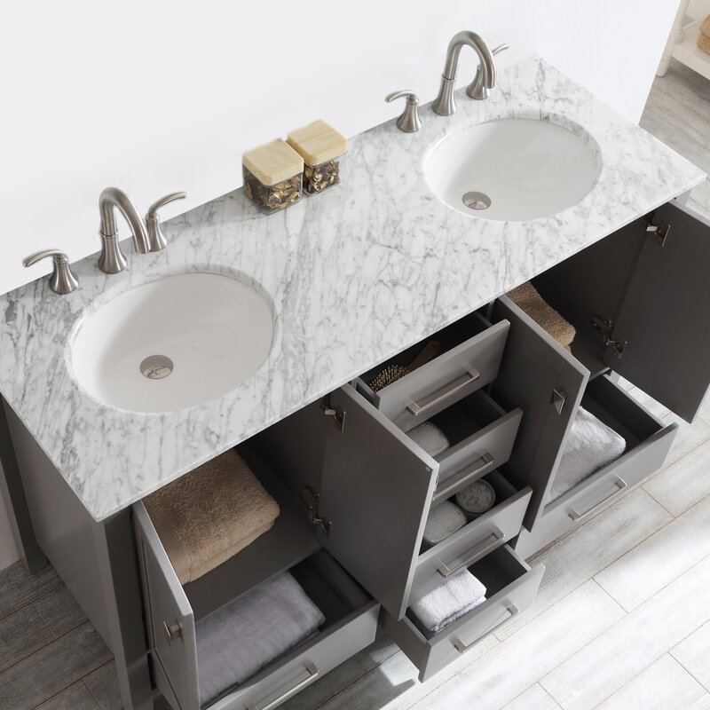 Newtown 60 Double Bathroom Vanity Set