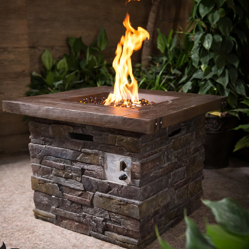 Home Loft Concept Fibreglass Stone Gas Fire Pit Wayfair