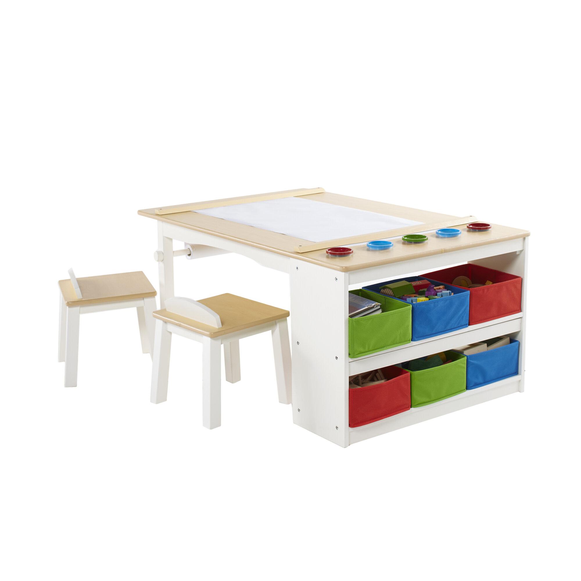 Birch Lane Kids™ Intermediate Kids 10 Piece Arts & Crafts Table and ...