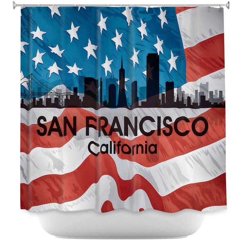City VI San Francisco California Shower Curtain