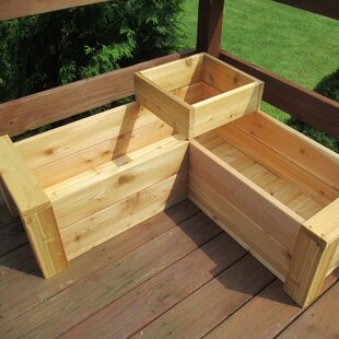 Gunderson L Shaped Multi Level Cedar Planter Box